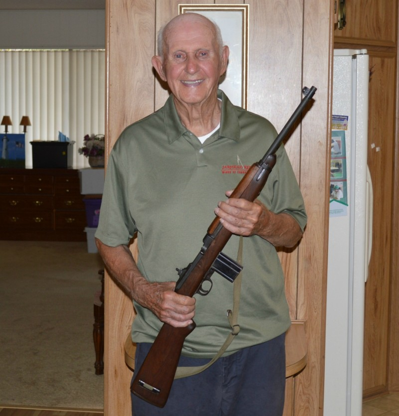 Edward P. McDuffee with M1 Carbine
