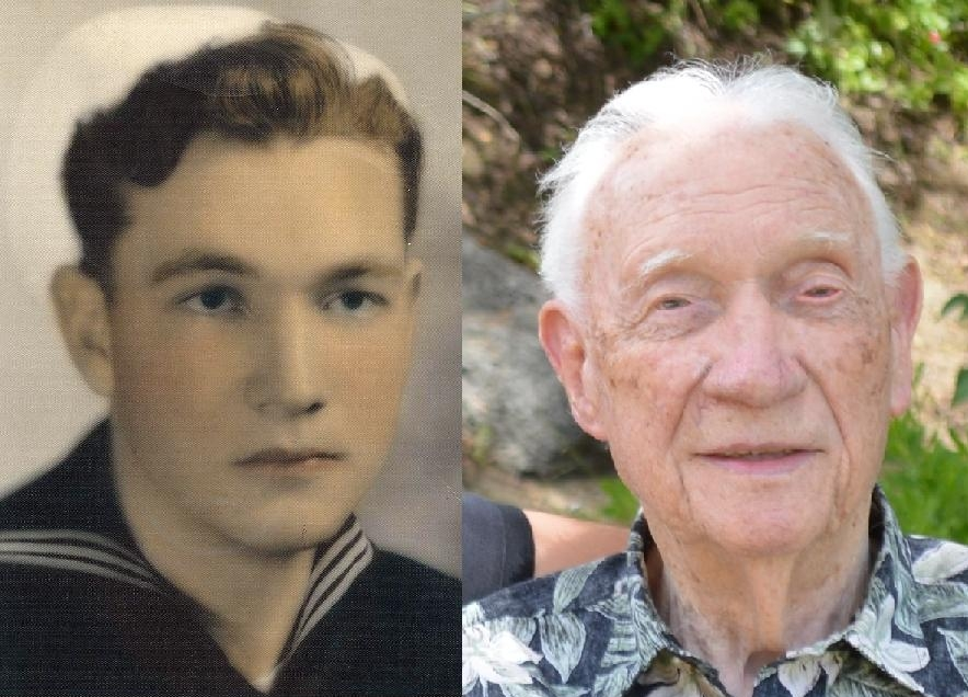 Lawrence Eugene Whitmire Then (1943) and Now (July 2014)