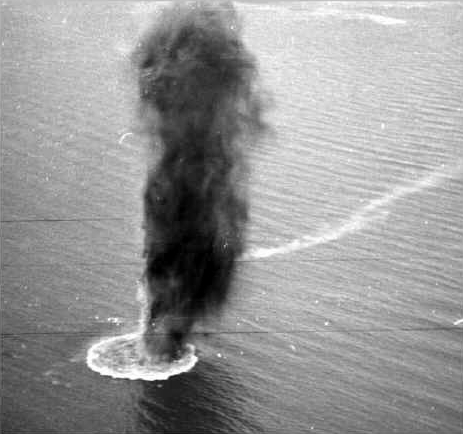 Exploding Mines off Korea 1950