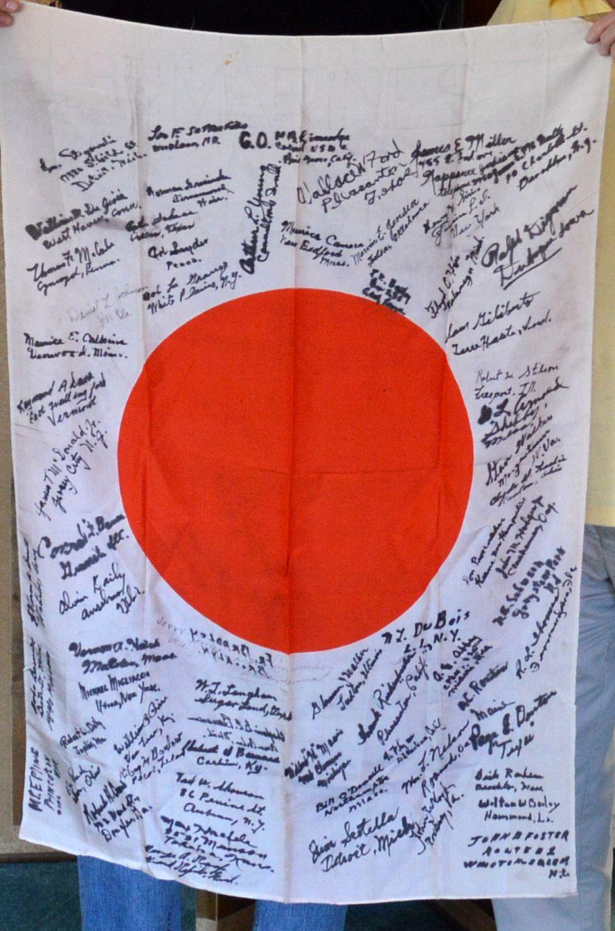 Captured Japanese Flag from Iwo Jima