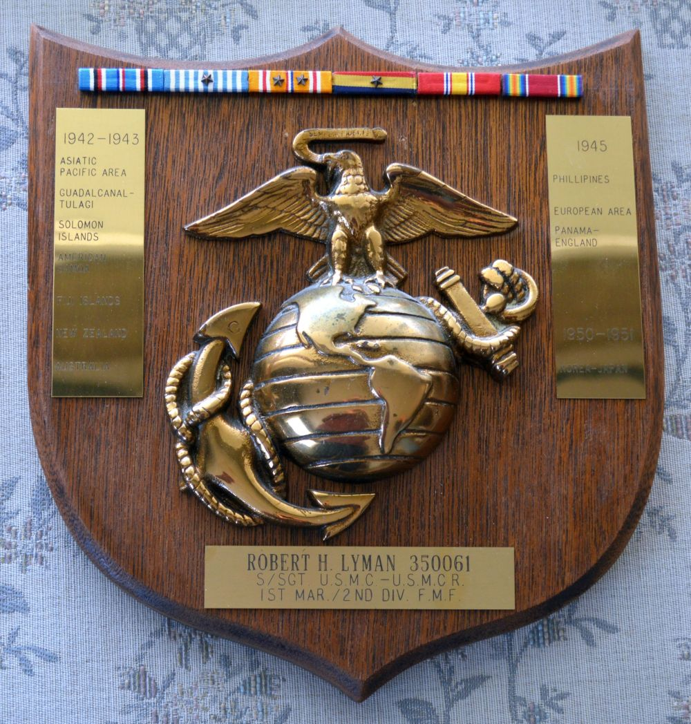Robert H Lyman: Military Service Plaque