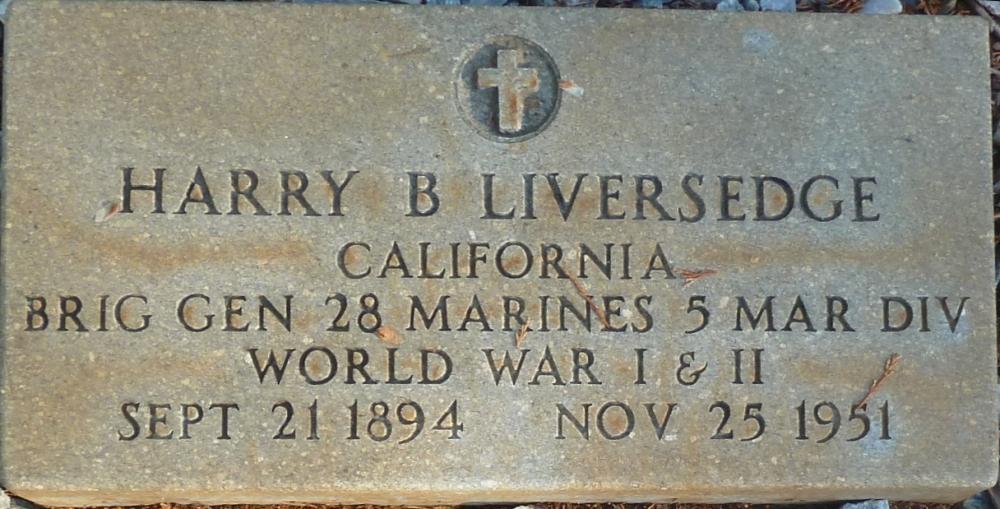 Harry B Liversedge Grave Marker