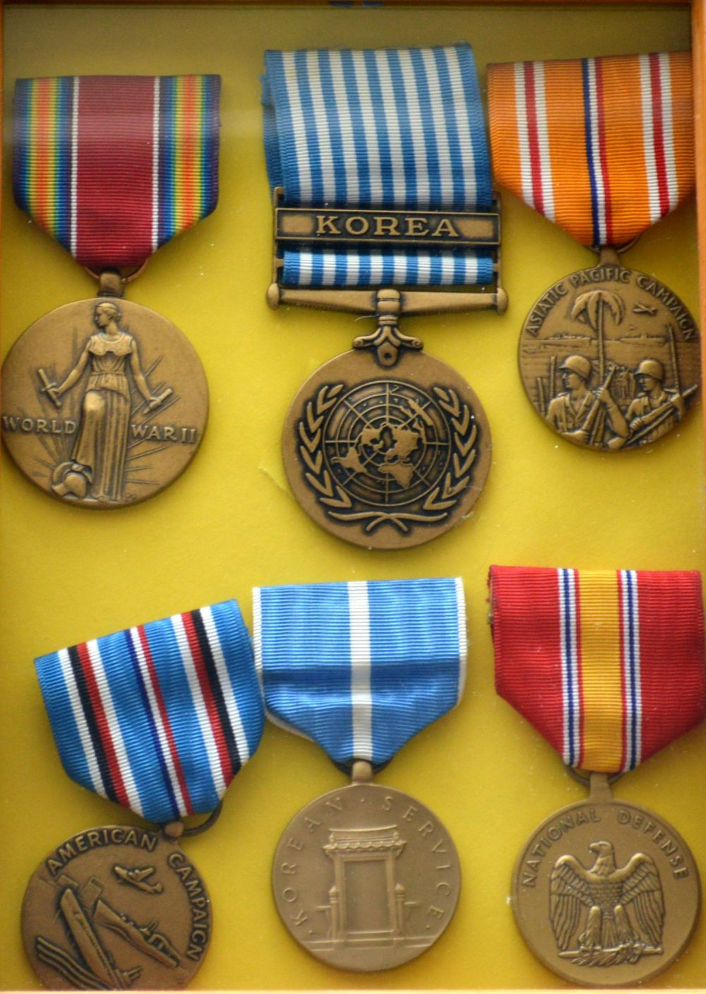 Medals awarded to Robert Lyman for his military service