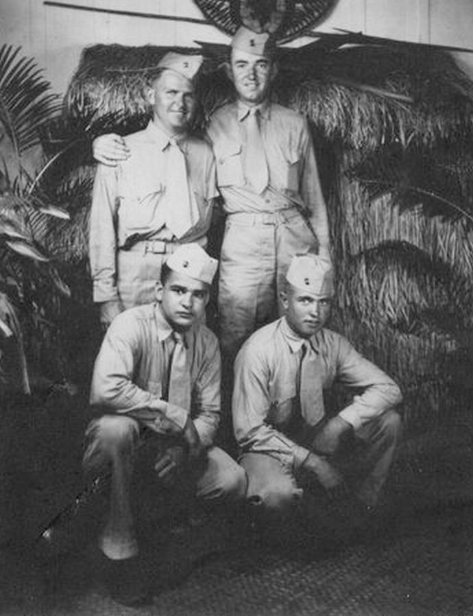 James Shriver, Neal C. Snell & Pasqual Mercado: Honolulu, 1944