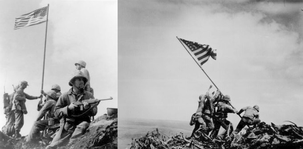 Mt. Suribachi Flags