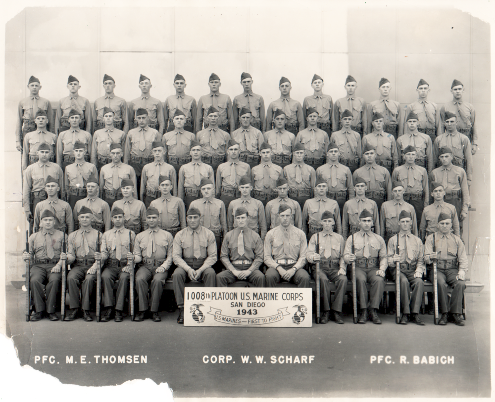 Military class, Camp Pendleton, CA 1943