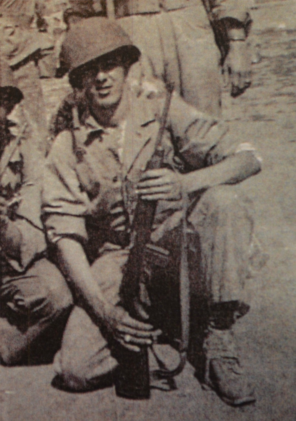 James with M1 Carbine: Camp Pendleton, CA 1944