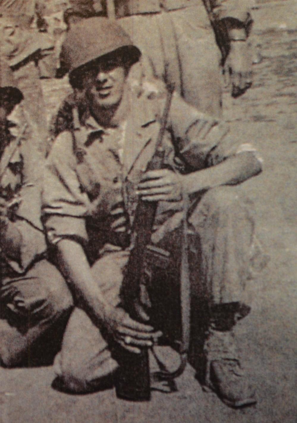 James with M1 Carbine: Camp Pendleton, CA 1944