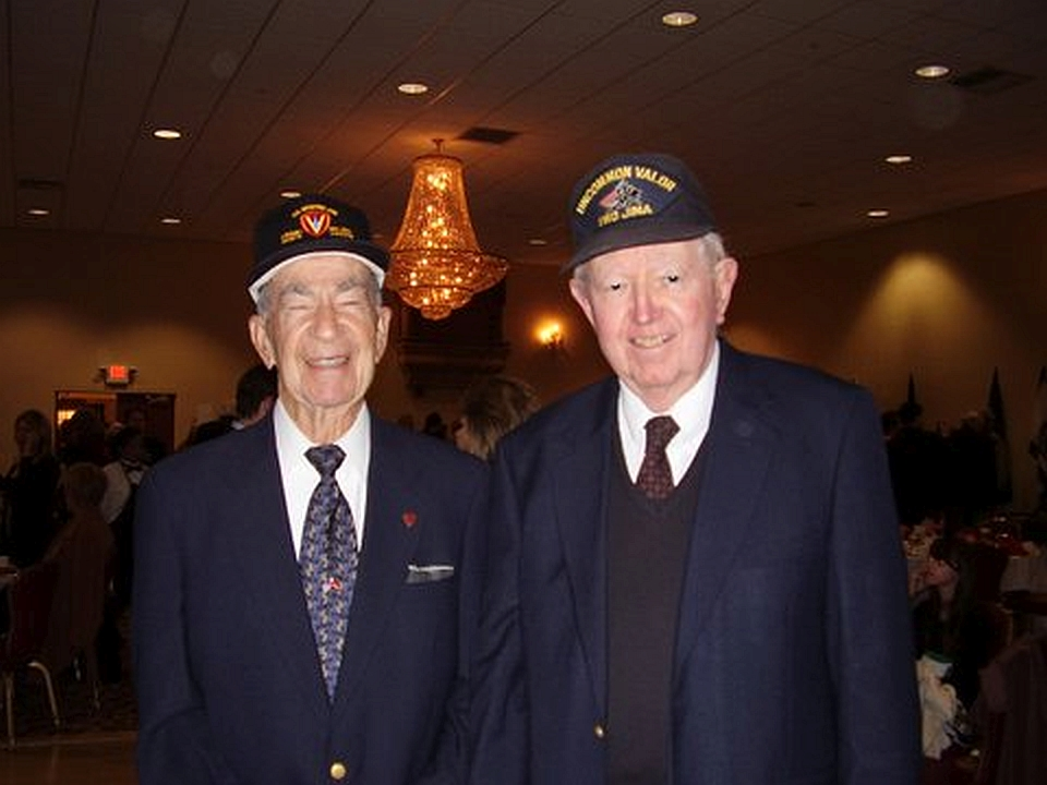 James Shriver & TC Coley at 52nd Anniversary Battle of Iwo Jima, Camp Pendleton