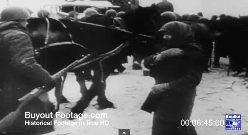 022a HD Stock Footage WWII Battle of Russia Reel 6 Screenshot