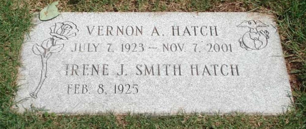 Vernon Alfred Hatch Grave Marker