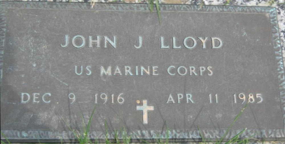 John J Lloyd December 9, 1916 - April 11, 1985 Grave Marker