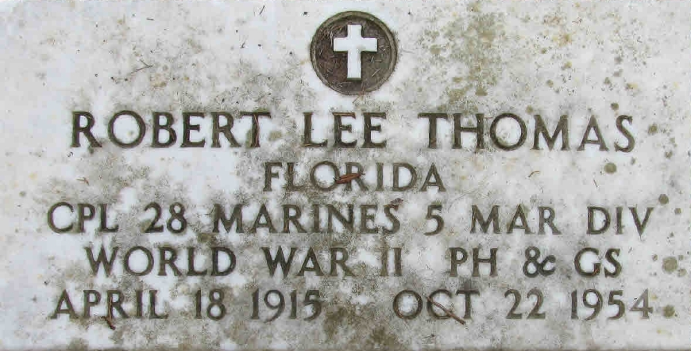 Robert Lee Thomas April 18, 1915 - October 22, 1954 Grave Marker