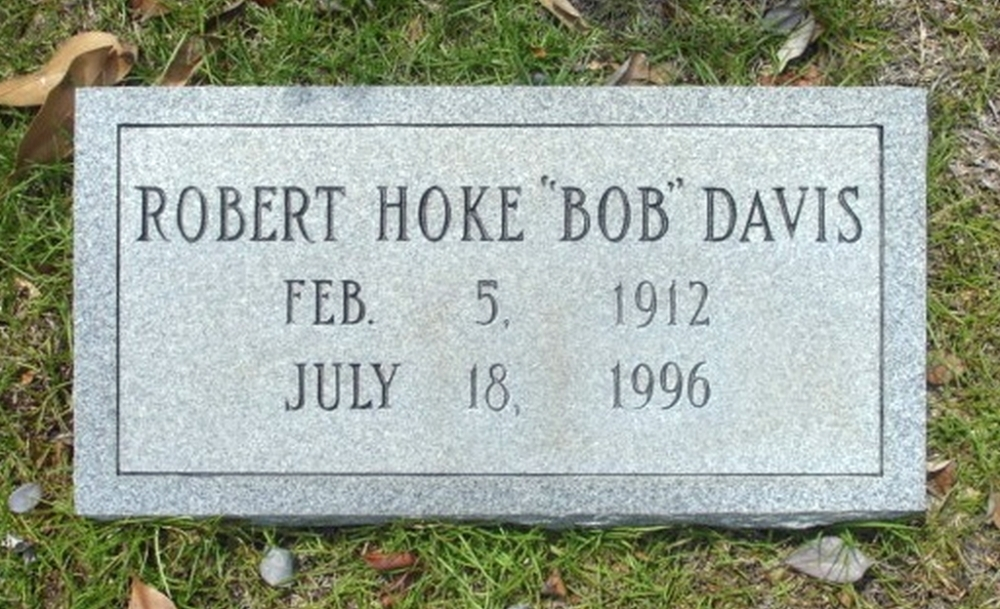 Robert H Davis February 5, 1912 - July 18, 1996 Grave Marker