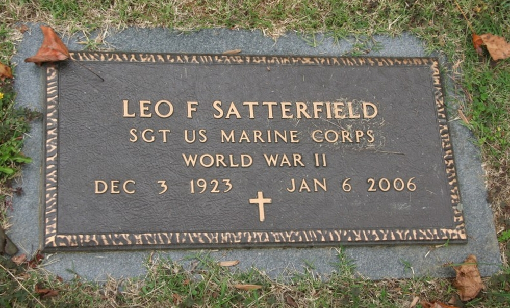 Leo F Satterfield December 3, 1923 - January 6, 2006 Grave Marker