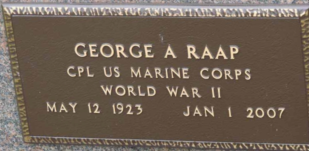 George A Raap May 12, 1923 - January 1, 2007 Grave Marker