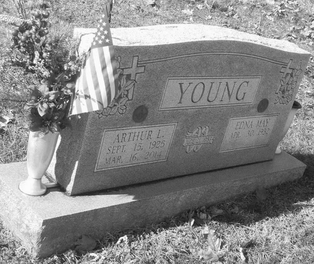 Arthur L Young September 15, 1925 - March 16, 2014 Grave Marker