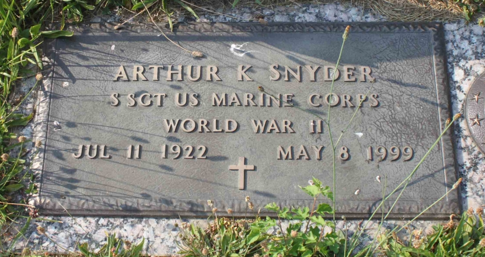 Arthur K Snyder July 11, 1922 - May 8, 1999 Grave Marker