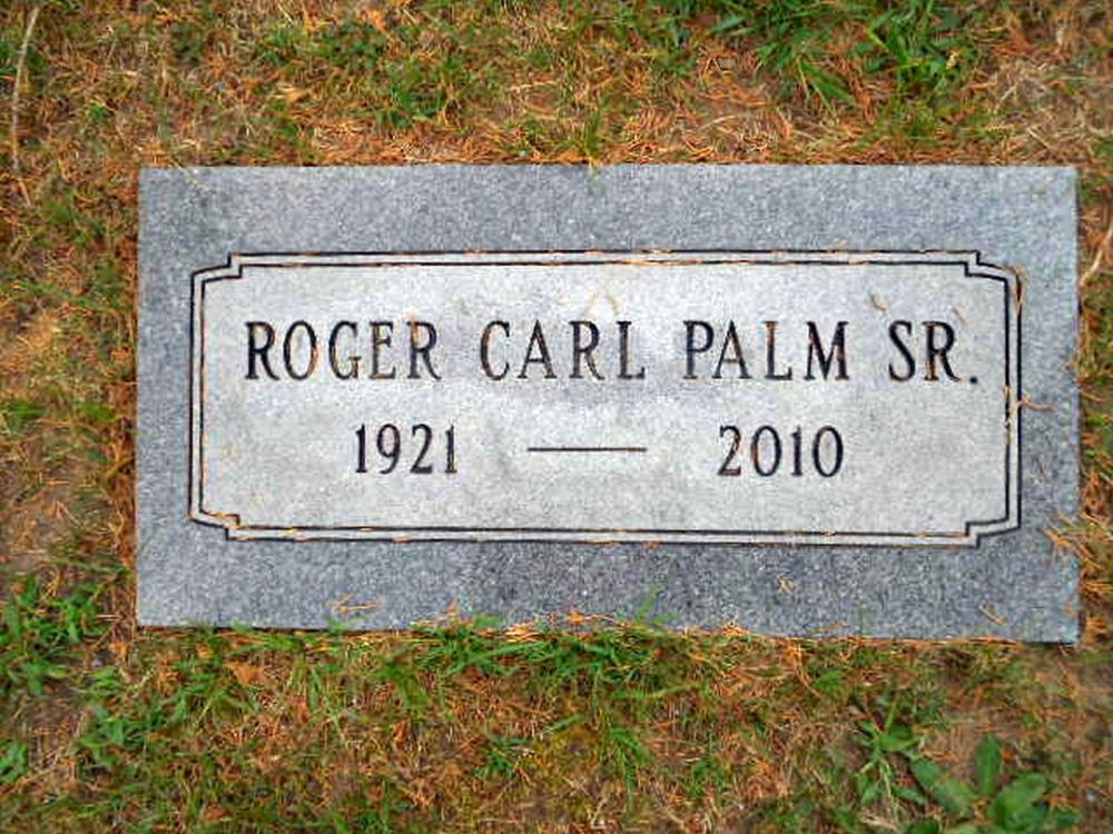 Roger Carl Palm Jr. Grave Marker