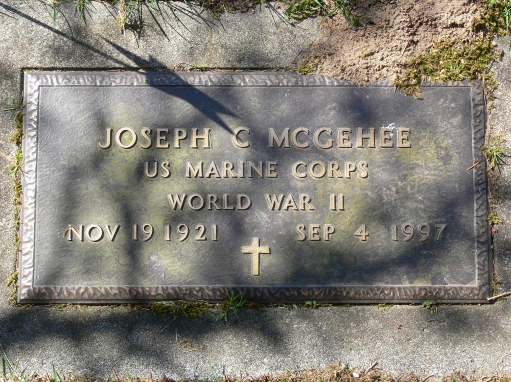 Sergeant (Sgt) Joseph Coffman McGehee Grave Marker