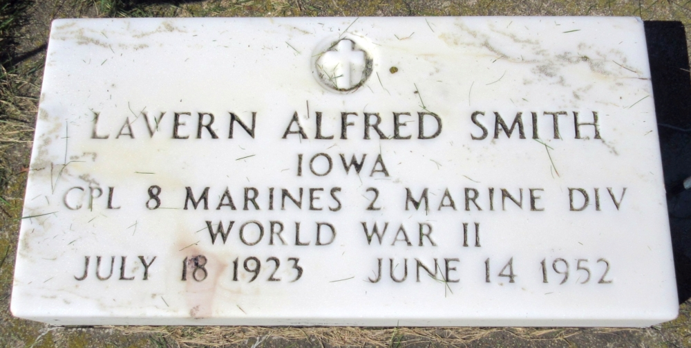 LaVern Alfred Smith July 18, 1923 - June 14, 1952 Grave Marker