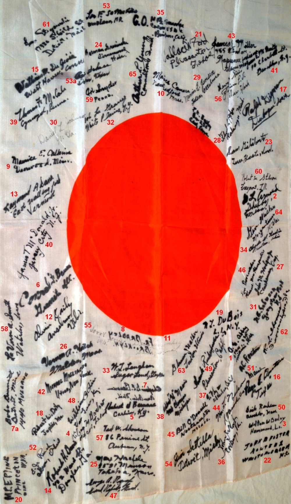 James Scotella Signed Japanese Flag