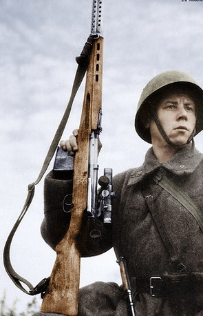 Russian Soldier with Scoped SVT-40