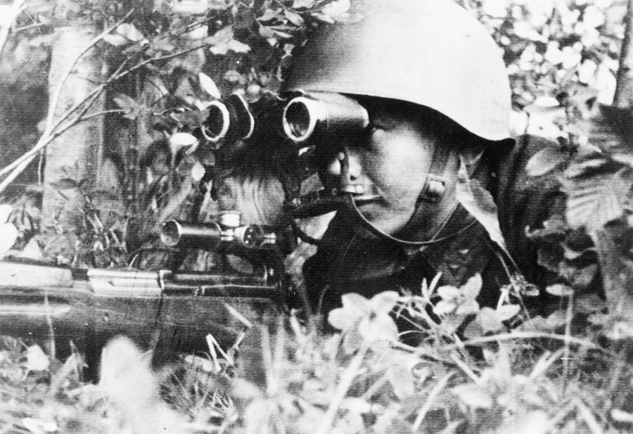 Sergeant P. Dorzhiev, a Russian sniper who killed 181 Germans on the Leningrad front