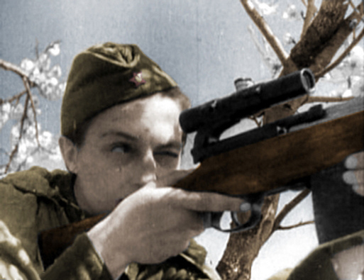 Sniper Pavlichenko with SVT-40