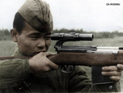 Soviet Sniper with Scoped SVT-40