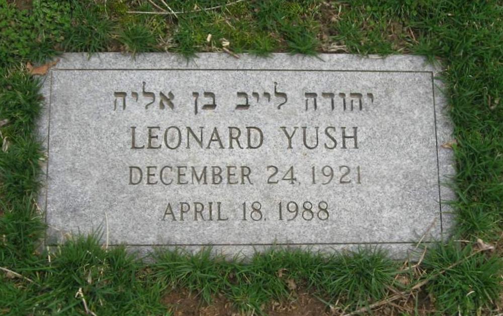 Corporal (Cpl) Leonard Lenny Yush Grave Marker