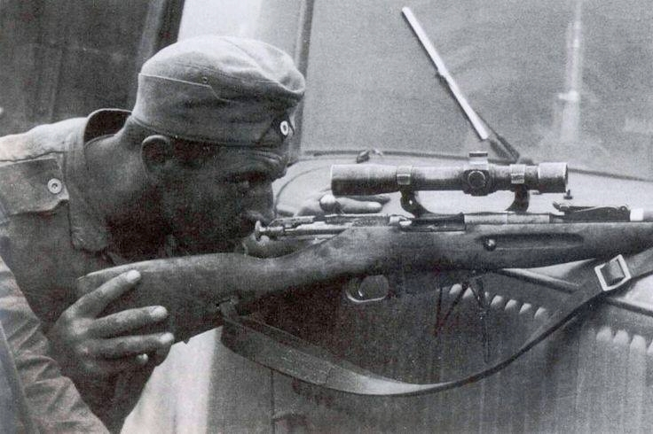 German Sniper with Scoped 9130 on Ost Front