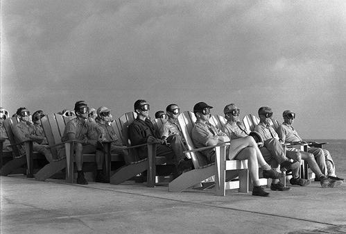 Greenhouse Dog Shot VIP Beach Club Viewing Parry Island April 7, 1951