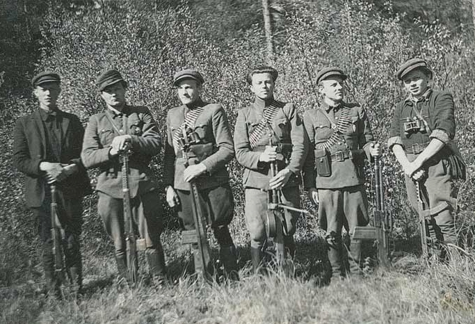 Lithuanian Partisan Group with SVT-40