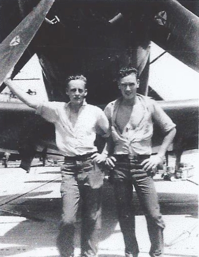 Robert Childers and Robin Hammel - USS Boxer, 1950