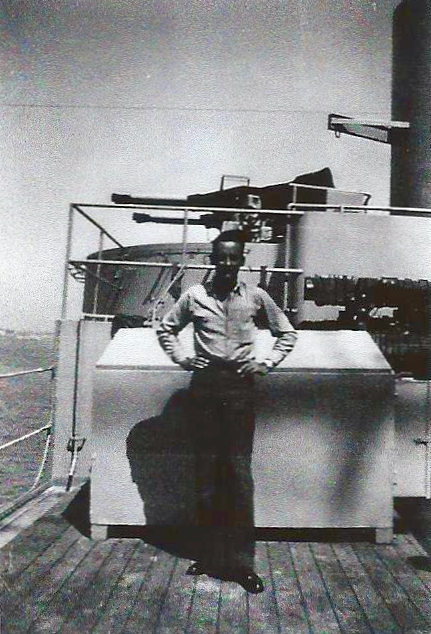 Robert on USS Curtiss