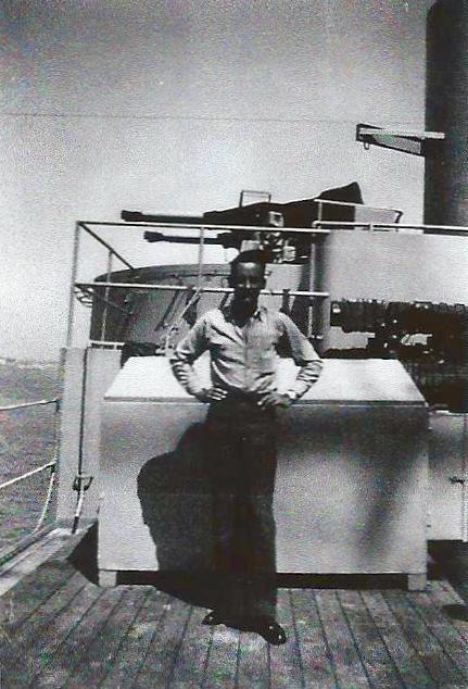 Robert on USS Curtiss