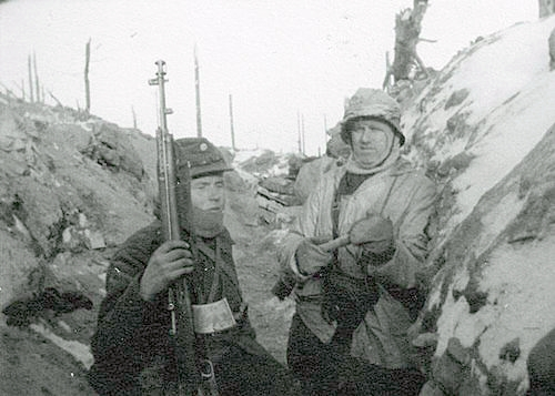 Soldier at left with AVS-36