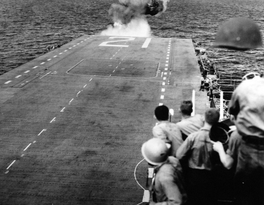 USS Boxer September 16 1950 - Initial Take-Off Crash