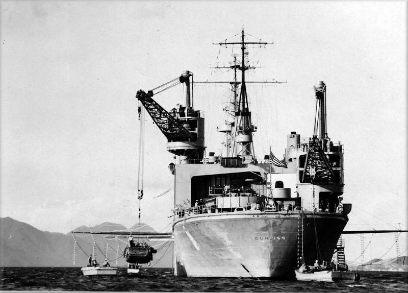 USS Curtiss - Iwakuni Japan October 5, 1950