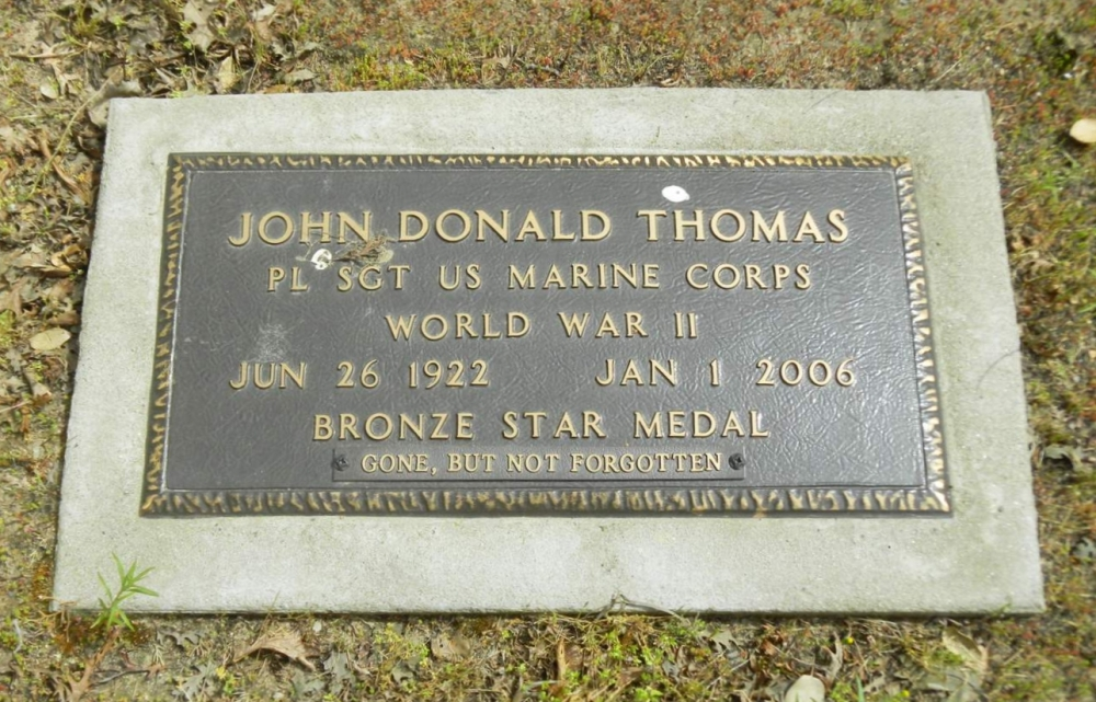 Platoon Sergeant John Donald Thomas Grave Marker