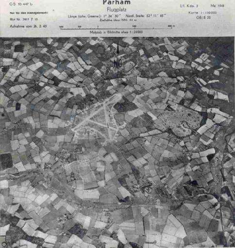 German Recon Photo of RAF base in Framlingham England