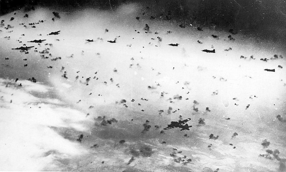 Flak near B-17 Bombers