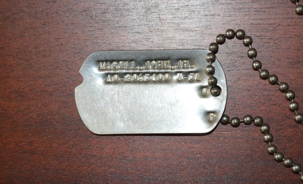 John Magill Military ID (Dog Tag)