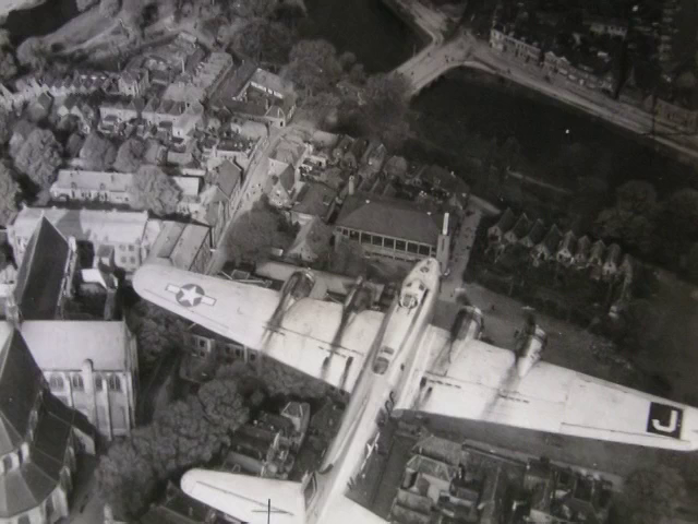 B-17 over Holland during Operation Chowhound