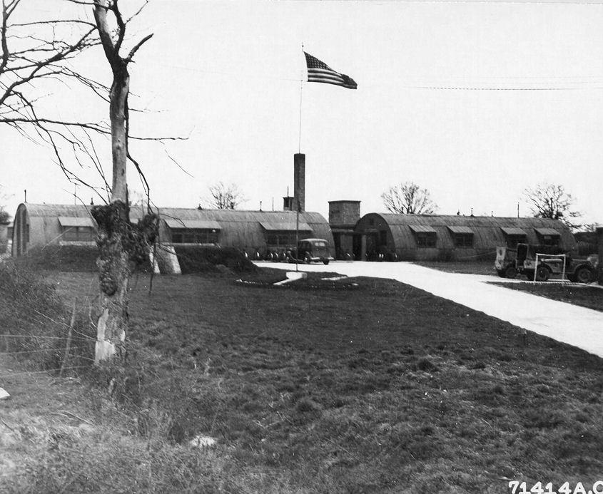 RAF Framlingham Headquarters Buildings - March 1945